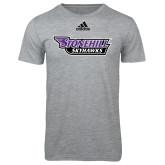 Adidas Sport Grey Logo T Shirt-Stonehill Skyhawks