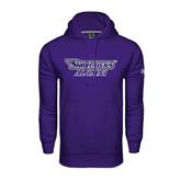 Under Armour Purple Performance Sweats Team Hood-Alumni
