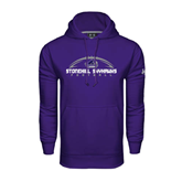 Under Armour Purple Performance Sweats Team Hood-Arched Football Design