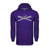 Under Armour Purple Performance Sweats Team Hood-Baseball Bats