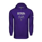 Under Armour Purple Performance Sweats Team Hood-Basketball Stacked