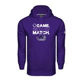 Under Armour Purple Performance Sweats Team Hood-Tennis Game Set Match