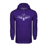 Under Armour Purple Performance Sweats Team Hood-Track and Field Design