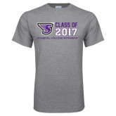 Grey T Shirt-Class of Stacked Personalized Year, Personalized Year