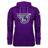 Adidas Climawarm Purple Team Issue Hoodie-S