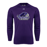 Under Armour Purple Long Sleeve Tech Tee-Official Logo