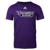 Adidas Purple Logo T Shirt-Stonehill Skyhawks