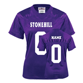 Ladies Purple Replica Football Jersey-Personalized