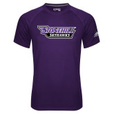 Adidas Climalite Purple Ultimate Performance Tee-Stonehill Skyhawks