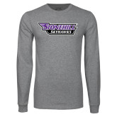 Grey Long Sleeve T Shirt-Stonehill Skyhawks