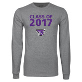 Grey Long Sleeve T Shirt-Class of Personalized Year, Personalized Year