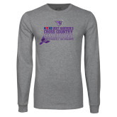 Grey Long Sleeve T Shirt-2017 Womens Cross Country Champions