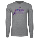 Grey Long Sleeve T Shirt-2017 Mens Cross Country Champions