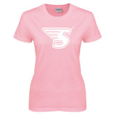 Ladies Pink T-Shirt-Primary Mark