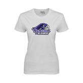 Ladies White T Shirt-Official Logo