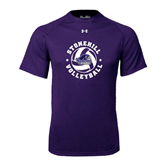 Under Armour Purple Tech Tee-Volleyball Stars Design