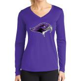 Ladies Syntrel Performance Purple Longsleeve Shirt-Hawkhead