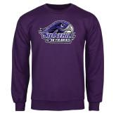 Purple Fleece Crew-Official Logo