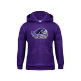 Youth Purple Fleece Hood-Official Logo