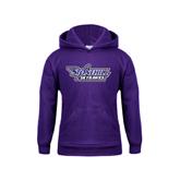 Youth Purple Fleece Hood-Stonehill Skyhawks