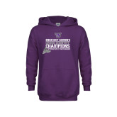Youth Purple Fleece Hoodie-2017 Womens Cross Country Champions