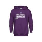 Youth Purple Fleece Hoodie-2017 Mens Cross Country Champions