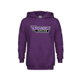 Youth Purple Fleece Hoodie-Soccer