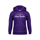 Youth Purple Fleece Hood-Arched Football Design
