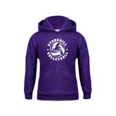 Youth Purple Fleece Hood-Volleyball Stars Design