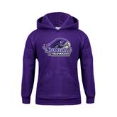 Youth Purple Fleece Hood-Field Hockey