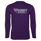 Performance Purple Longsleeve Shirt-Stonehill Skyhawks