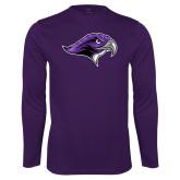 Performance Purple Longsleeve Shirt-Hawkhead