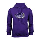 Purple Fleece Hood-Official Logo