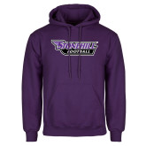 Purple Fleece Hoodie-Football