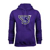 Purple Fleece Hood-S