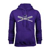 Purple Fleece Hood-Baseball Bats