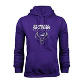 Purple Fleece Hood-Basketball Stacked