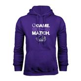 Purple Fleece Hood-Tennis Game Set Match