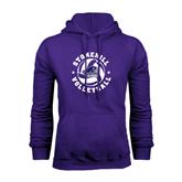 Purple Fleece Hood-Volleyball Stars Design