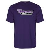 Performance Purple Tee-Basketball