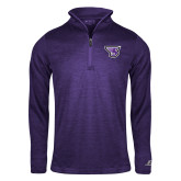 Russell Purple Heather 1/4 Zip-Primary Mark