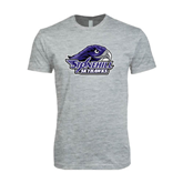 Next Level SoftStyle Heather Grey T Shirt-Official Logo