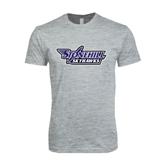 Next Level SoftStyle Heather Grey T Shirt-Stonehill Skyhawks