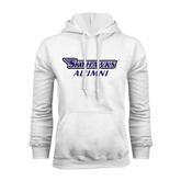 White Fleece Hood-Alumni