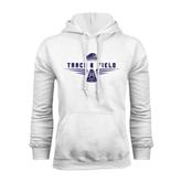 White Fleece Hood-Track and Field Design