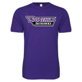 Next Level SoftStyle Purple T Shirt-Stonehill Skyhawks