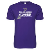 Next Level SoftStyle Purple T Shirt-2017 Womens Cross Country Champions