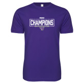 Next Level SoftStyle Purple T Shirt-2018 Womens Indoor Track and Field Champions