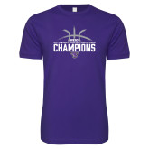 Next Level SoftStyle Purple T Shirt-Womens Basketball Regular Season Champions