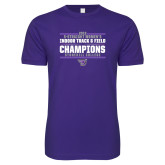 Next Level SoftStyle Purple T Shirt-Womens Indoor Track and Field Champions